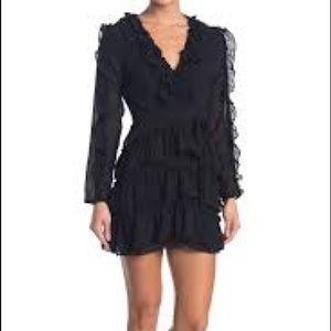Dee Elle Black Ruffle Mini Dress - Medium